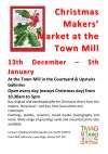 Christmas Makers Market at the Town Mill, Lyme Regis.
