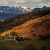 Winter sunset in Lake District