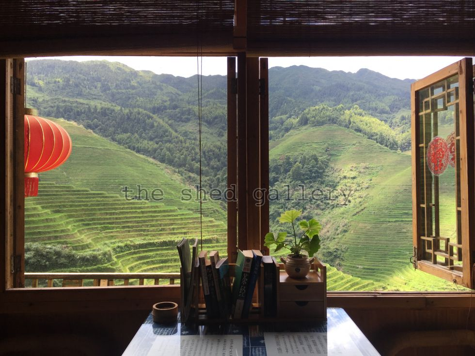 Longsheng Rice terraces through the window