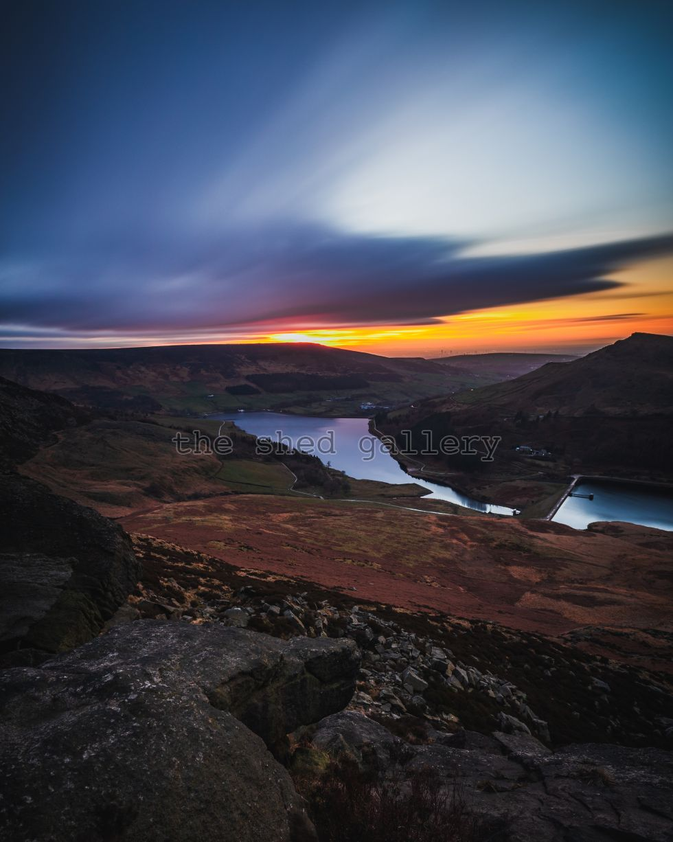 Dovestone Reservoir Long Exposure