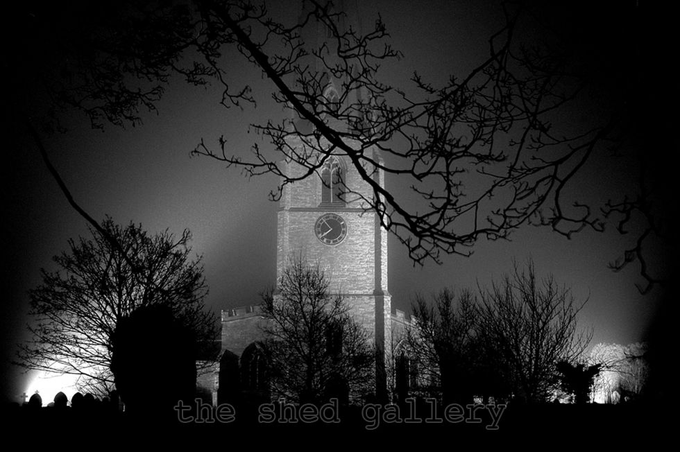 Olney Church in the Fog