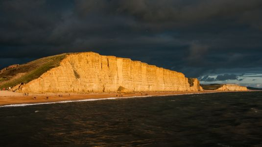 Brooding sky over East Cliff