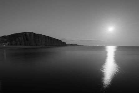 East Cliff by moonlight