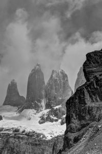 Torres del Paine ,The  Towers of Paine B&W