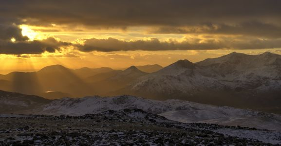 Sunset from Moel Siabod