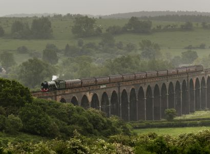 Flying Scotsman on Harringworth Viaduct