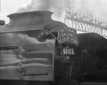 Flying Scotsman in Monochrome