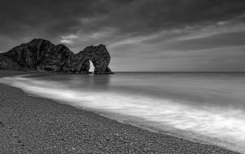 Durdle Door morning storm