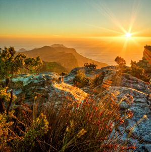 Sunset on Top of Table Mountain
