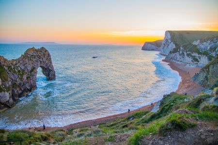 Beautiful sunset at Durdle Door