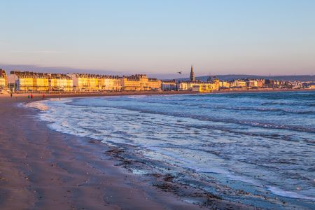 Weymouth beach and town