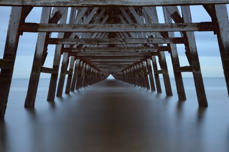 Stillness under the pier