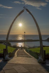 Sunrise at the whale bones, Whitby