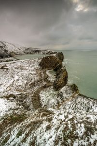 Stair Hole winter landscape
