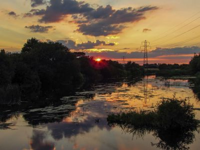 Sunset at River Stour