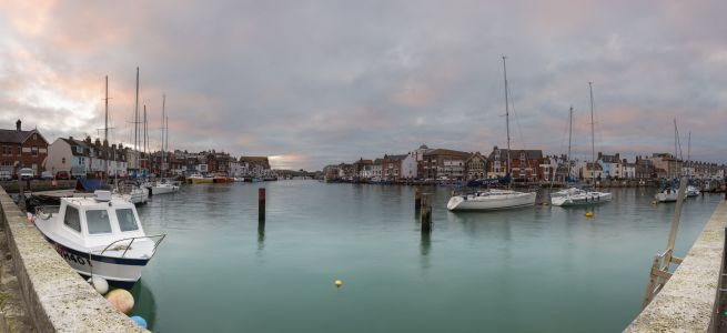 Weymouth Harbour on a Winters Morning