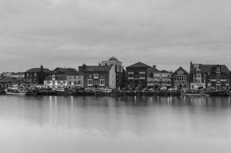Weymouth Harbour in Black and White