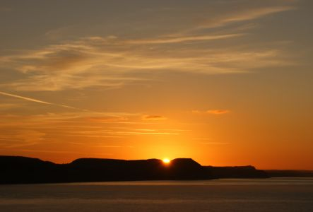Sunrise over the Golden Cap, Dorset