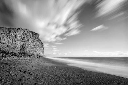 West Bay Golden Cliffs (Black and White)