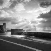 Wet promenade in Lyme Regis