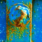 Rust with blue