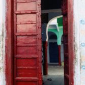 Red door in Pushkar