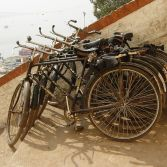 Bicycles in Varanasi