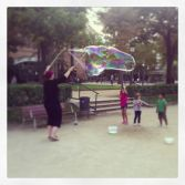 Giant bubbles in the park