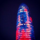 Agbar tower in Barcelona