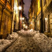 Gamla Stan in The Snow