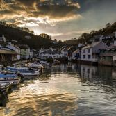 Sunset at Polperro