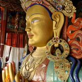 Ladakh 2015 - The collosal Future Maitreya Buddha, at Thiksay Monastery