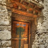 Ladakh 2015 - Carved wooden door in Leh