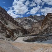 Ladakh 2015 - Chilling, the Entrance to the Markha Valley, the Zanskar river wind on up to Padum