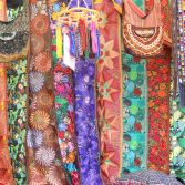 Tapestries at Otovala market