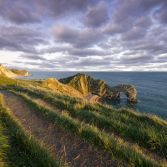 The pathway to Durdle Door