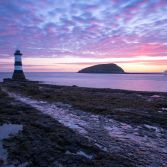 Penmon lighthouse sunrise