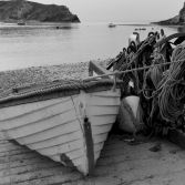 Fishing boat at Lulworth cove