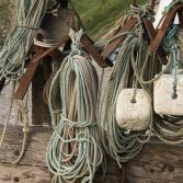 Fishing equipment in Lulworth cove
