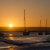 Sunrise over the Yachts at Hurst Castle