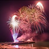 Fireworks over Bournemouth Pier