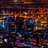 Cape Town City Bowl by Night
