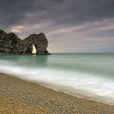 Durdle Door stormy morning