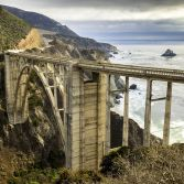 Bixby Bridge with Runner