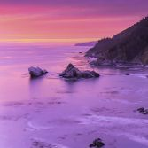 Red sky over Big Sur