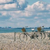 Bicycles at the shore