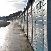 Beach huts after the rain