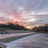 The Double Weir sunset