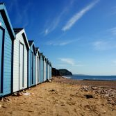 Beach Hut Row.