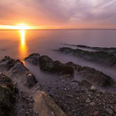 Clevedon at sunset